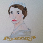 Talent Loves Company at Barbara Archer Gallery: 365 portraits by Lydia Walls - Queen Elizabeth