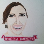 Talent Loves Company at Barbara Archer Gallery: 365 portraits by Lydia Walls - Rebecca Butcher