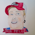 Talent Loves Company at Barbara Archer Gallery: 365 portraits by Lydia Walls - Ria Pell