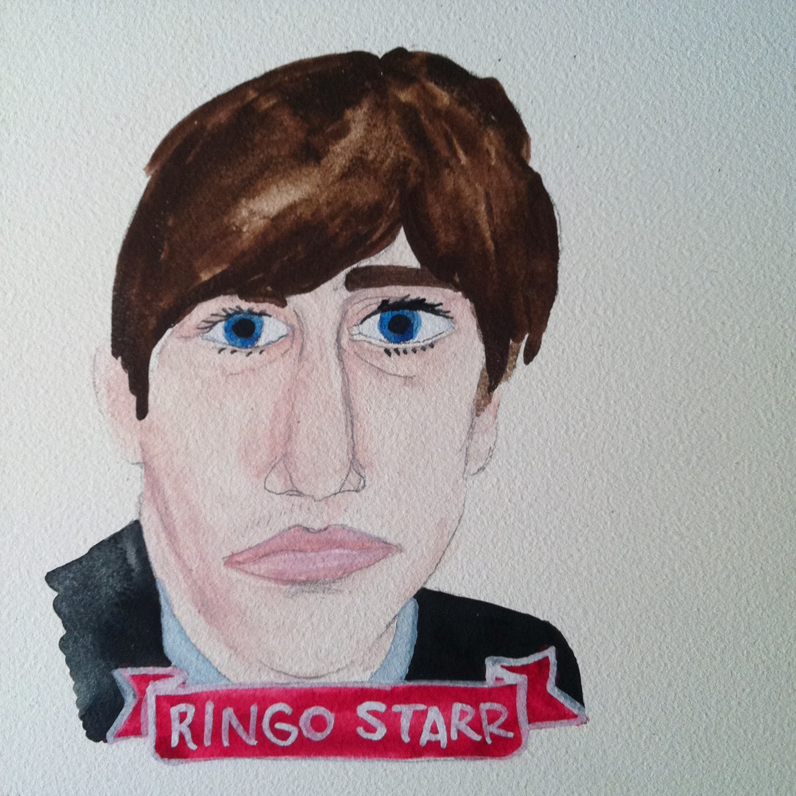 Talent Loves Company at Barbara Archer Gallery: 365 portraits by Lydia Walls - Ringo Starr