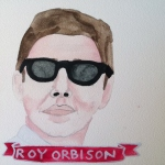 Talent Loves Company at Barbara Archer Gallery: 365 portraits by Lydia Walls - Roy Orbison