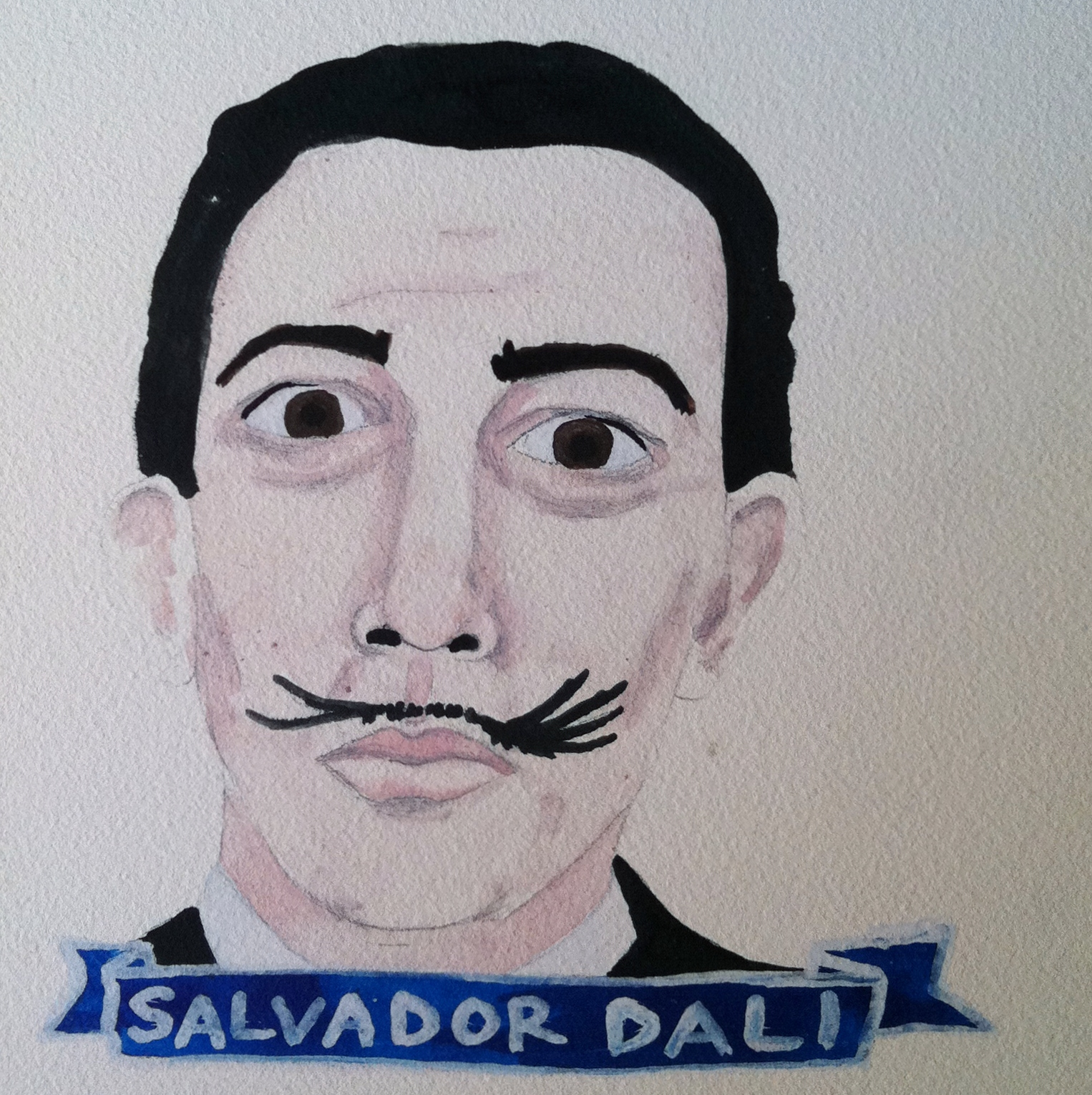 Talent Loves Company at Barbara Archer Gallery: 365 portraits by Lydia Walls - Salvador Dali