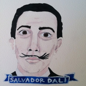 Talent Loves Company at Barbara Archer Gallery: 365 portraits by Lydia Walls - Salvador Dali