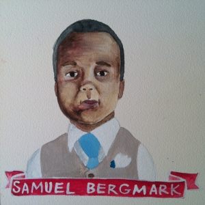 Talent Loves Company at Barbara Archer Gallery: 365 portraits by Lydia Walls - Samuel Bergmark