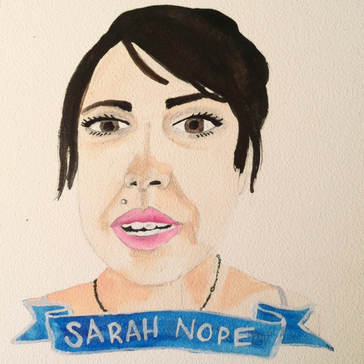 Talent Loves Company at Barbara Archer Gallery: 365 portraits by Lydia Walls - Sarah Nope