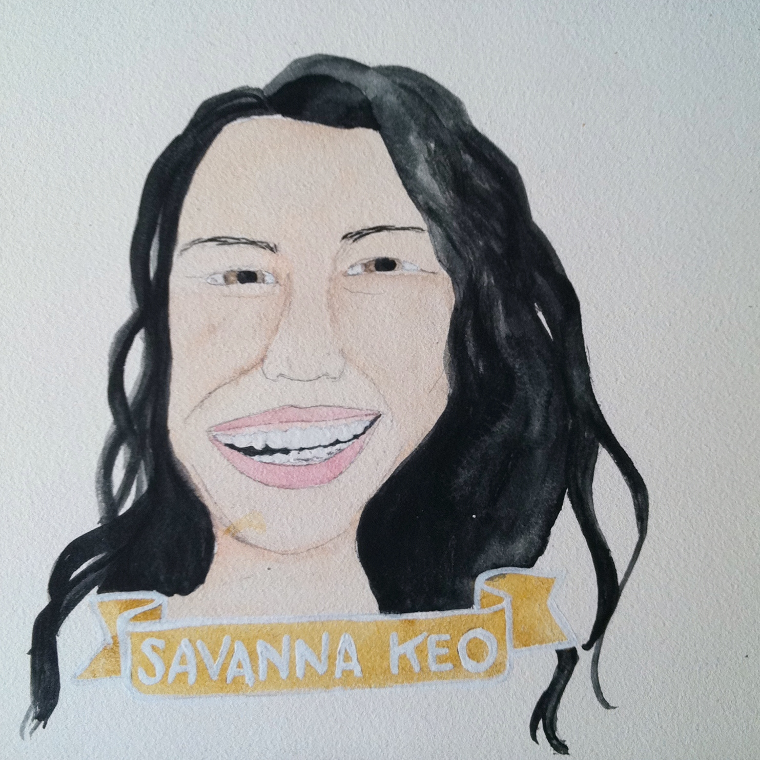 Talent Loves Company at Barbara Archer Gallery: 365 portraits by Lydia Walls - Savanna Keo