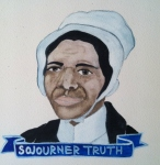 Talent Loves Company at Barbara Archer Gallery: 365 portraits by Lydia Walls - Sojourner Truth