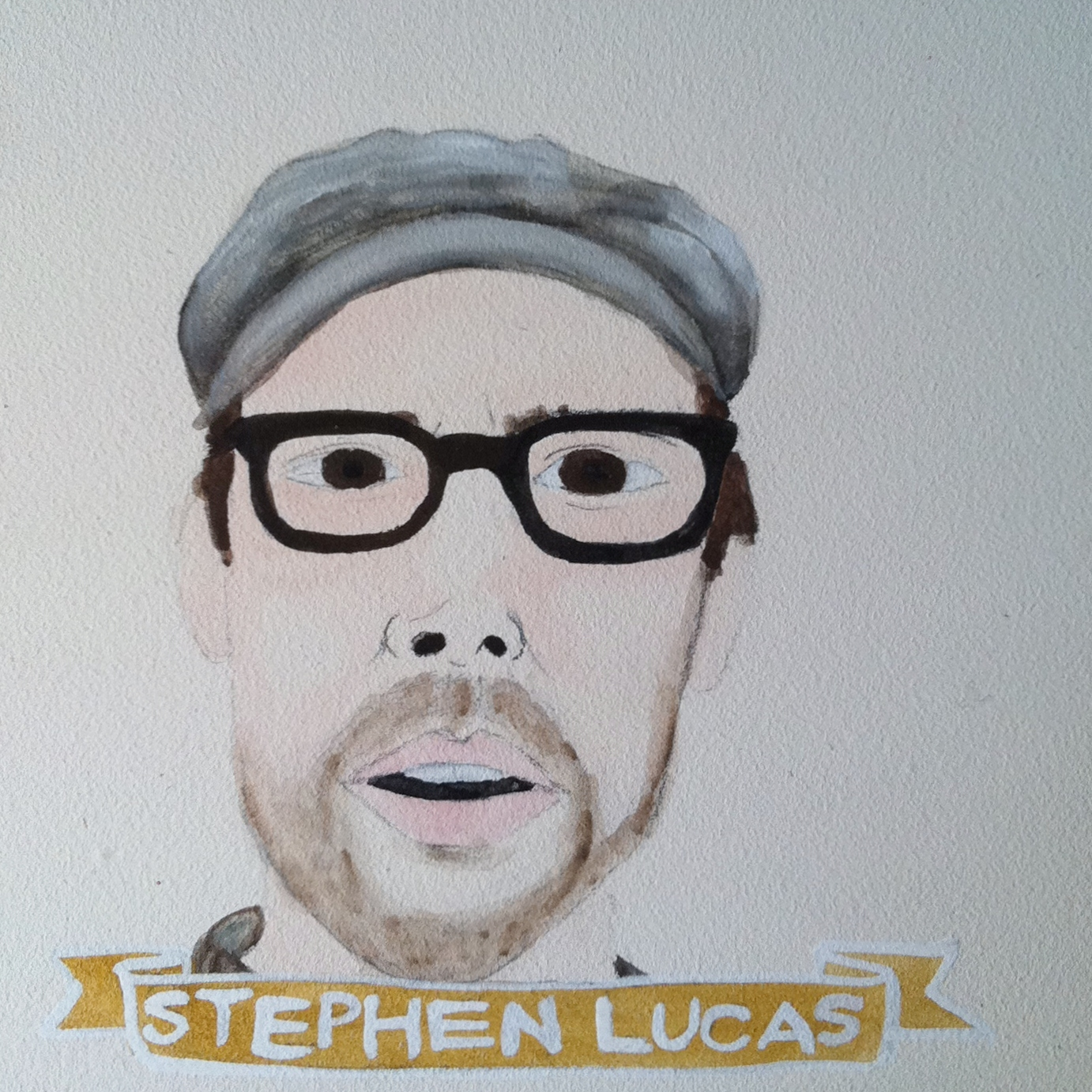 Talent Loves Company at Barbara Archer Gallery: 365 portraits by Lydia Walls - Stephen Lucas