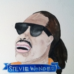 Talent Loves Company at Barbara Archer Gallery: 365 portraits by Lydia Walls - Stevie Wonder