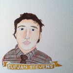 Talent Loves Company at Barbara Archer Gallery: 365 portraits by Lydia Walls - Sufjan Stevens