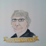 Talent Loves Company at Barbara Archer Gallery: 365 portraits by Lydia Walls - Susan Wells