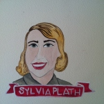 Talent Loves Company at Barbara Archer Gallery: 365 portraits by Lydia Walls - Sylvia Plath