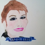 Talent Loves Company at Barbara Archer Gallery: 365 portraits by Lydia Walls - Tammy Faye