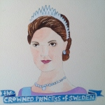 Talent Loves Company at Barbara Archer Gallery: 365 portraits by Lydia Walls - The Crowned Princess of Sweden