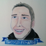 Talent Loves Company at Barbara Archer Gallery: 365 portraits by Lydia Walls - Thomas Edwards