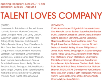 Talent Loves Company at Barbara Archer Gallery