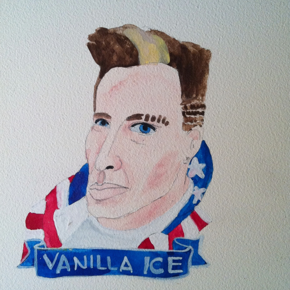 Talent Loves Company at Barbara Archer Gallery: 365 portraits by Lydia Walls - Vanilla Ice