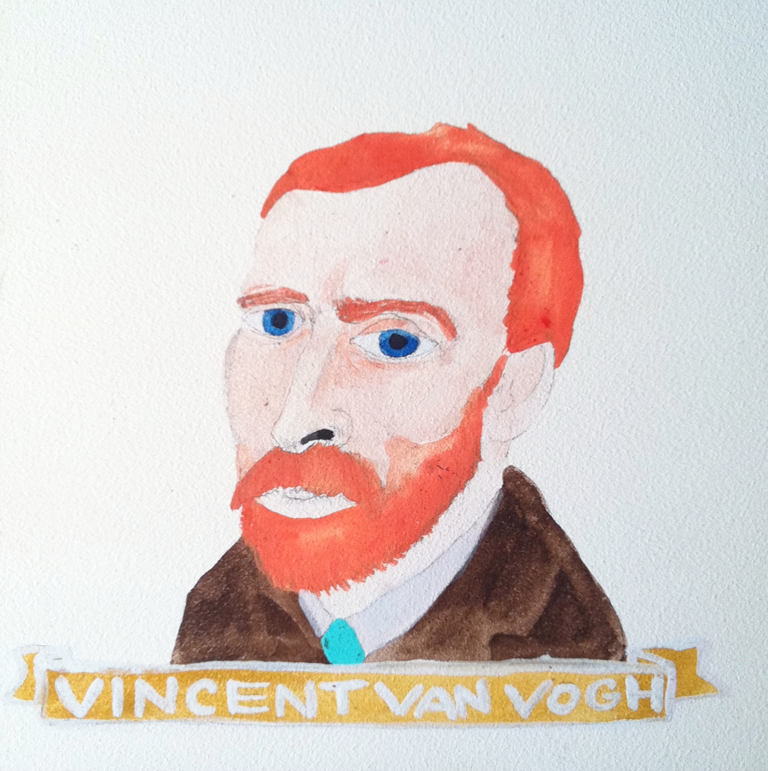 Talent Loves Company at Barbara Archer Gallery: 365 portraits by Lydia Walls - Vincent Van Gogh