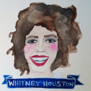 Talent Loves Company at Barbara Archer Gallery: 365 portraits by Lydia Walls - Whitney Houston