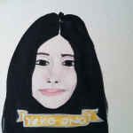 Talent Loves Company at Barbara Archer Gallery: 365 portraits by Lydia Walls - Yoko Ono