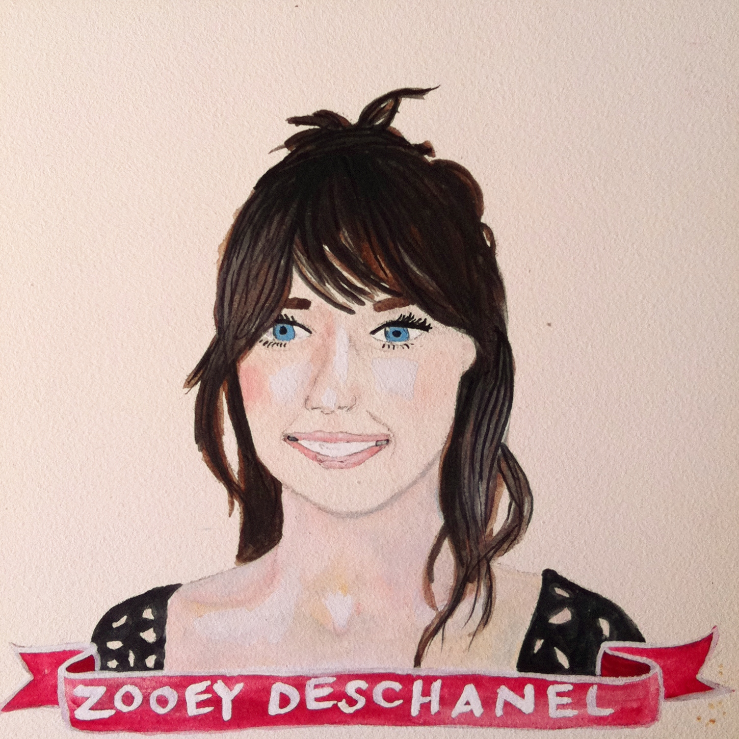 Talent Loves Company at Barbara Archer Gallery: 365 portraits by Lydia Walls - Zooey Deschanel
