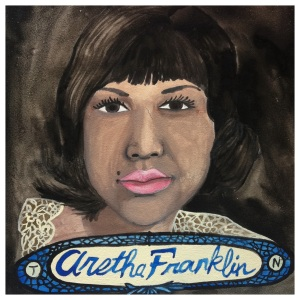100 Southerners portraits by Lydia Walls: Aretha Franklin