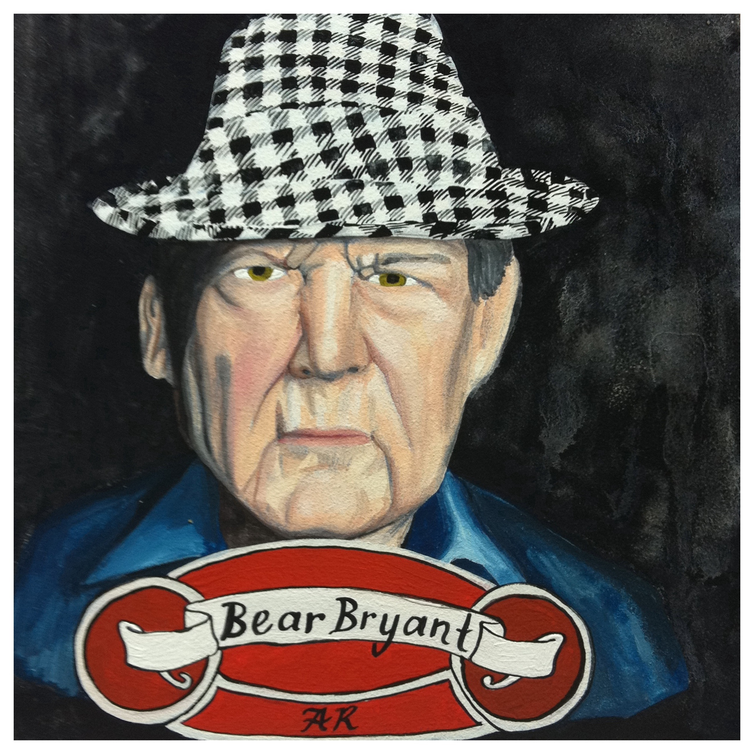 100 Southerners portrait by Lydia Walls: Bear Bryant