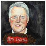100 Southerners portraits by Lydia Walls: Bill Clinton
