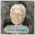 100 Southerners portraits by Lydia Walls: Billy Graham