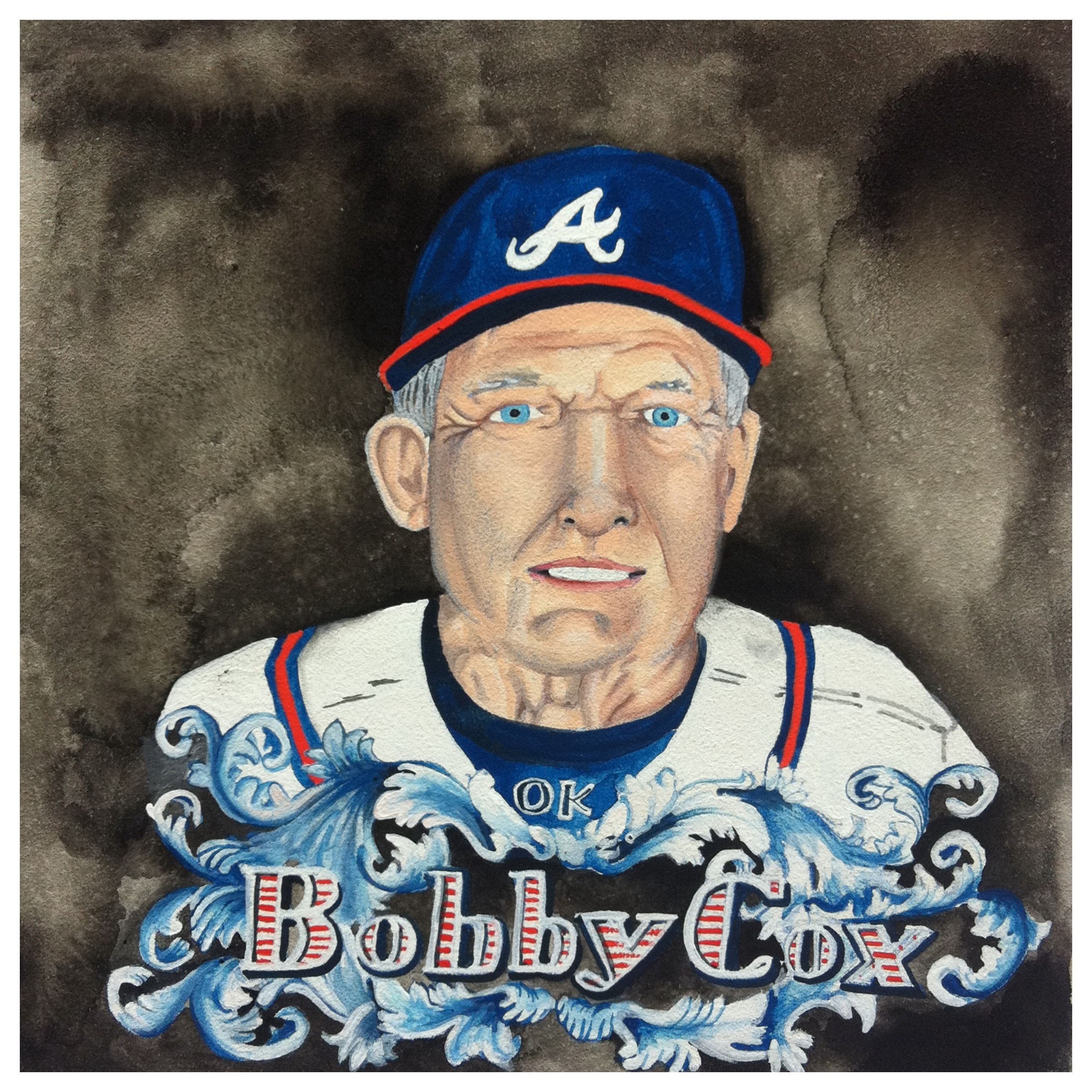 100 Southerners portraits by Lydia Walls: Bobby Cox