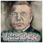 100 Southerners portraits by Lydia Walls: Booker T Washington