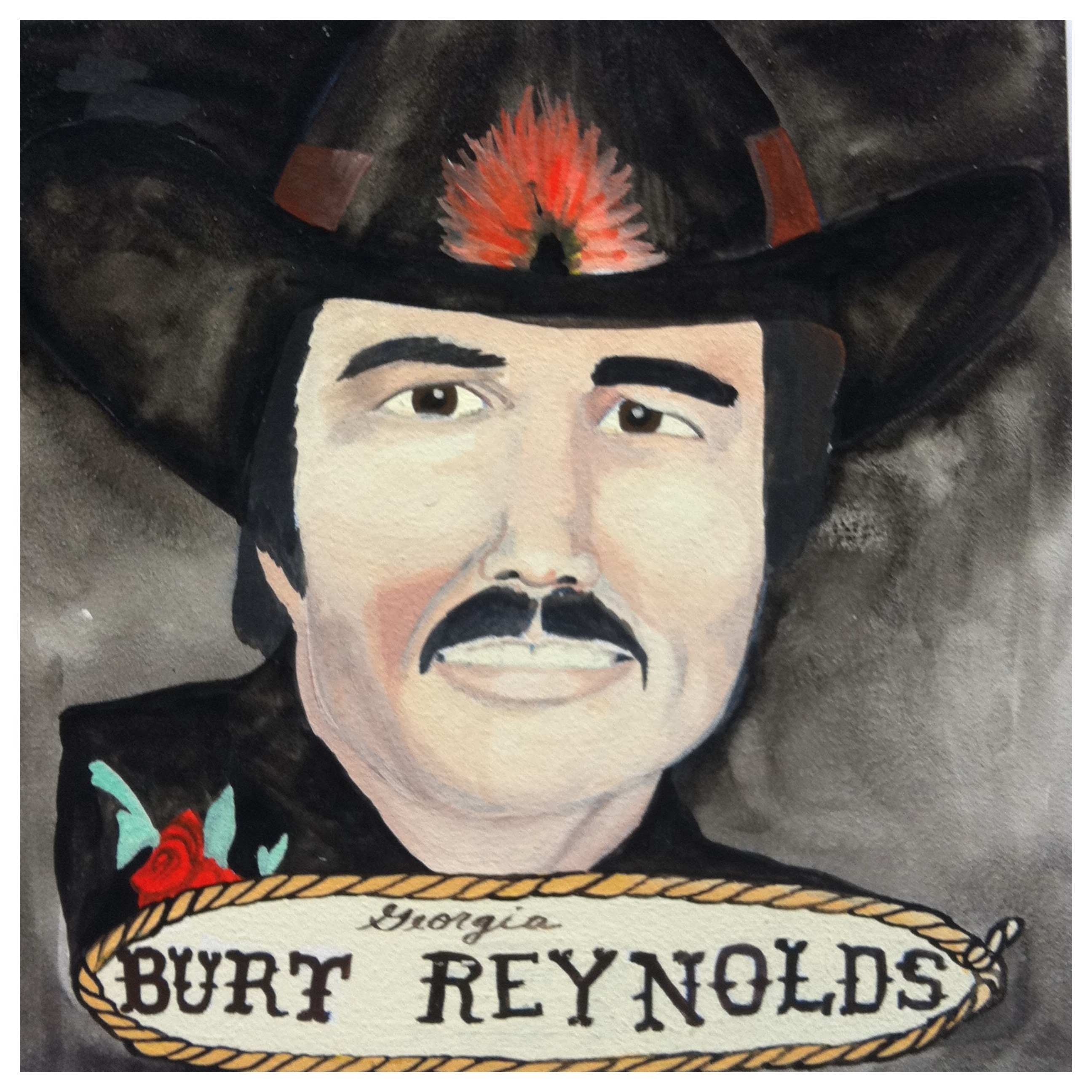 100 Southerners portraits by Lydia Walls: Burt Reynolds