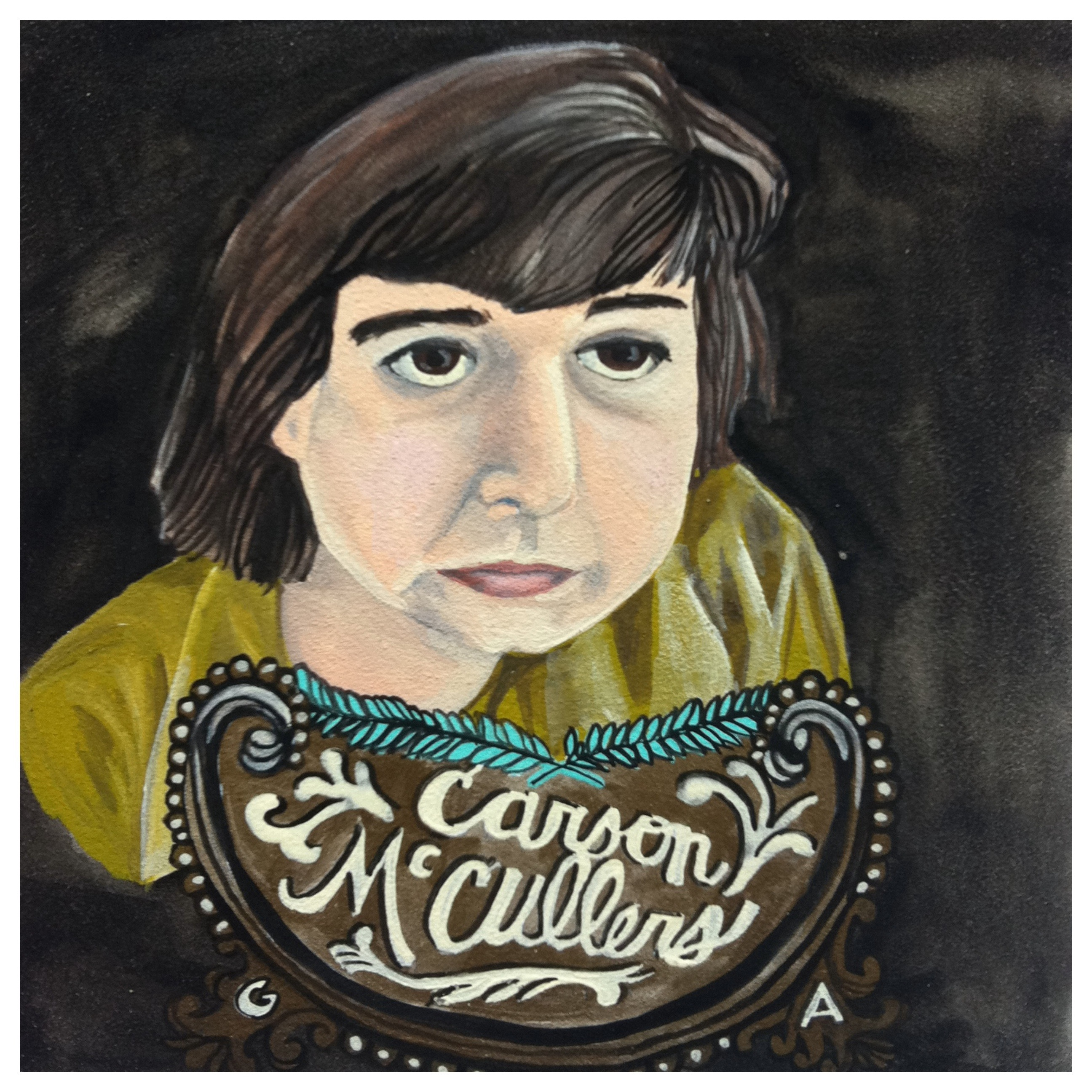 100 Southerners portraits by Lydia Walls: Carson McCullers