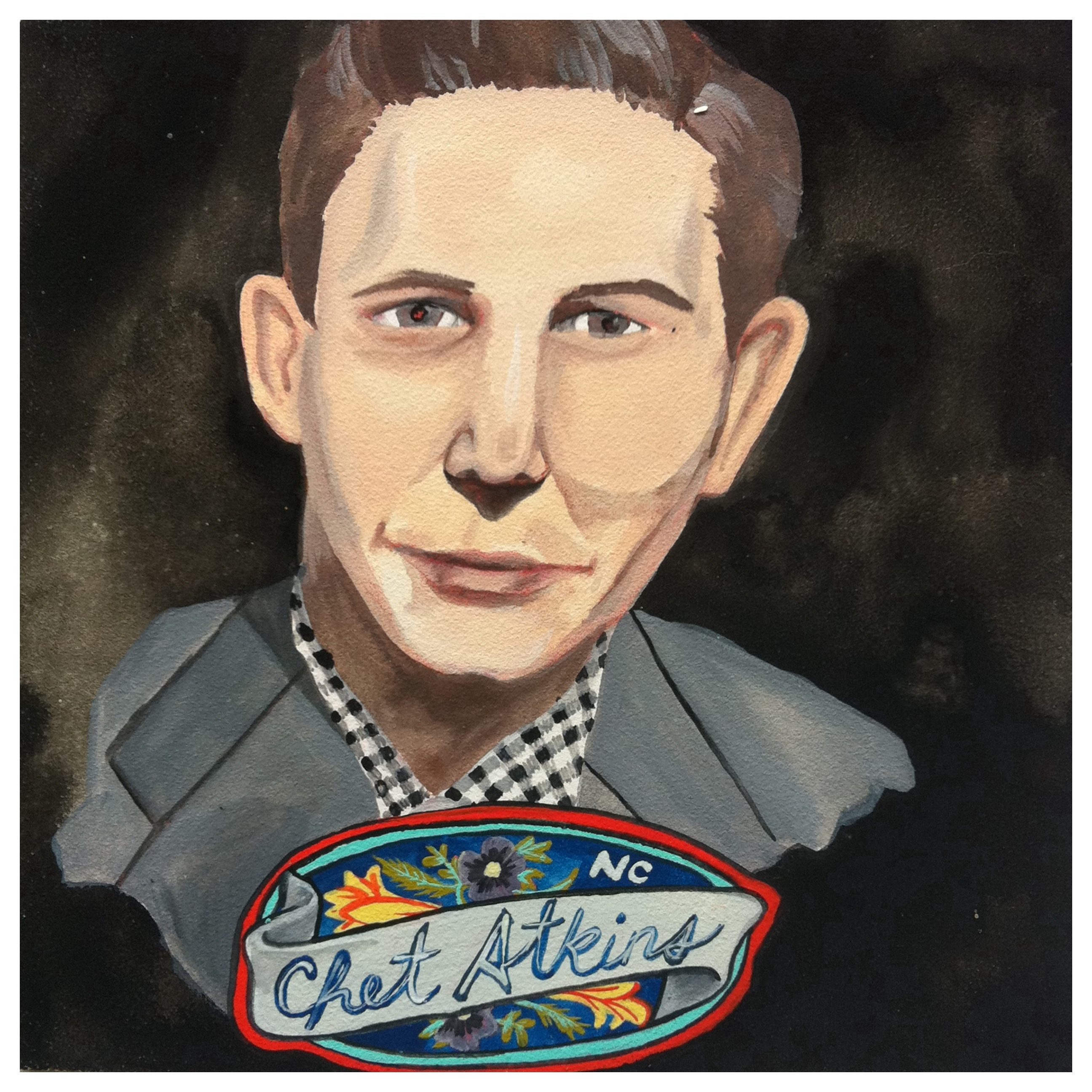 100 Southerners portraits by Lydia Walls: Chet Atkins