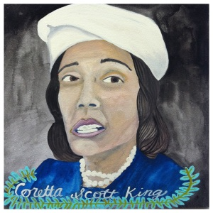 100 Southerners portraits by Lydia Walls: Coretta Scott King