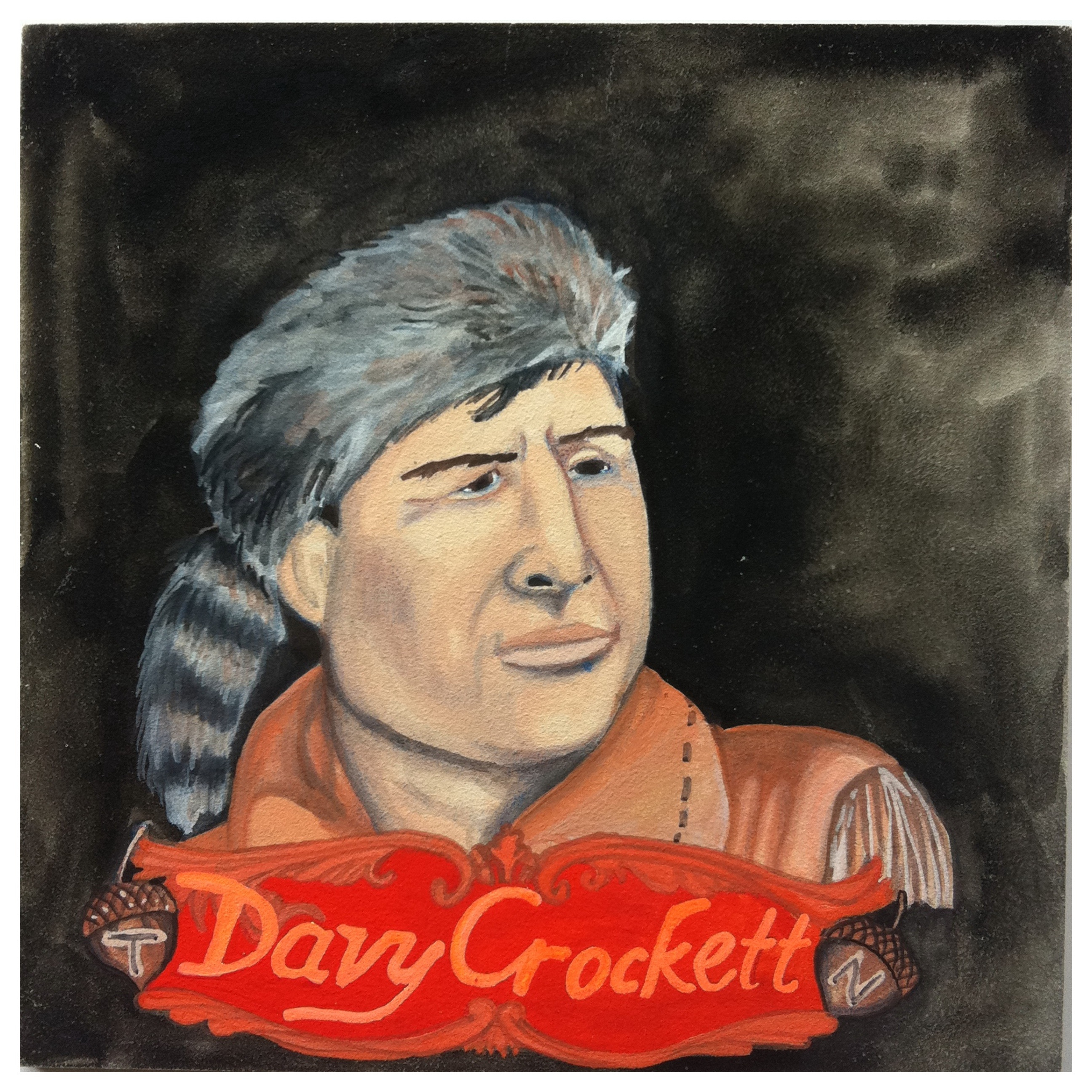 100 Southerners portraits by Lydia Walls: Davy Crockett