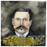 100 Southerners portraits by Lydia Walls: Doc Holliday