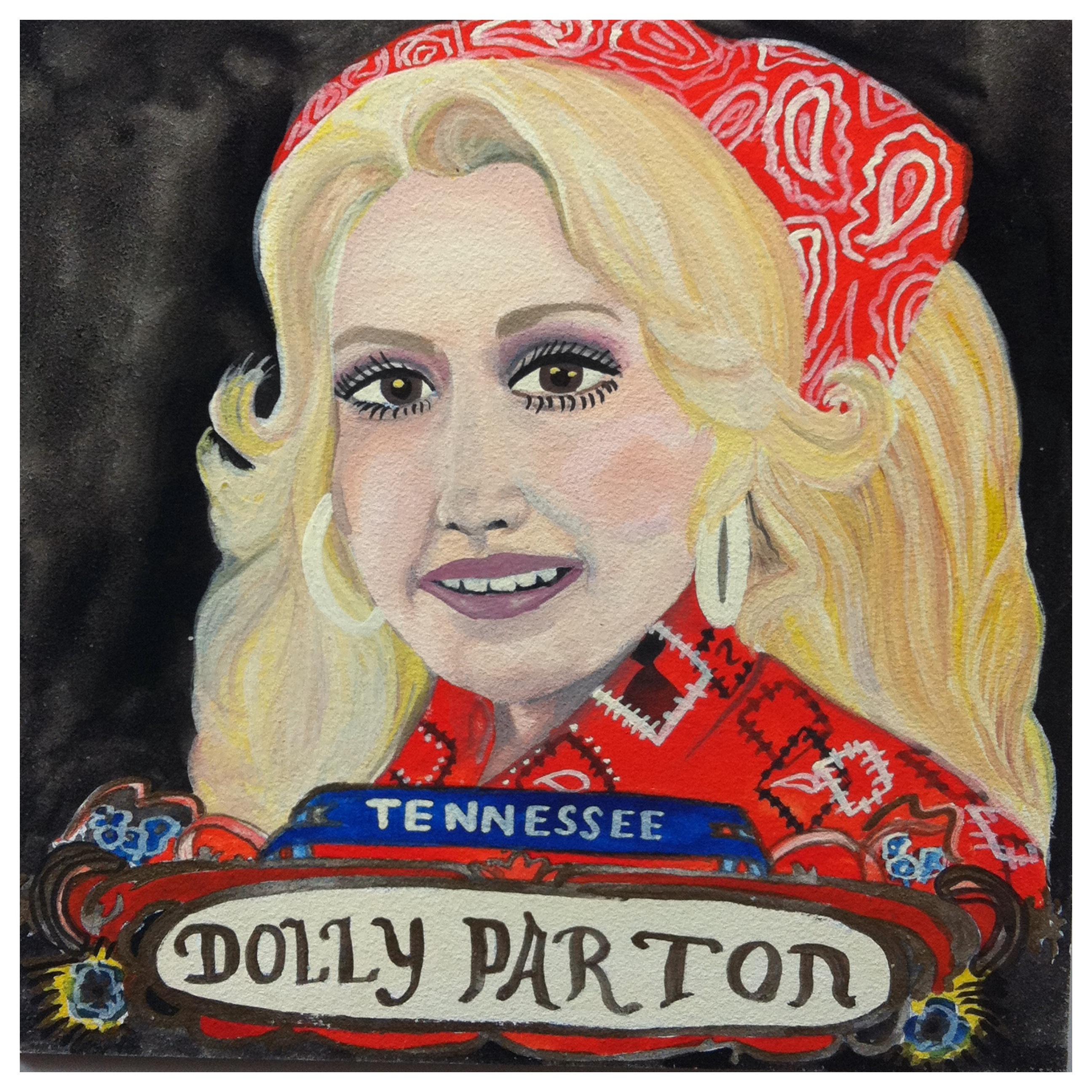 100 Southerners portraits by Lydia Walls: Dolly Parton