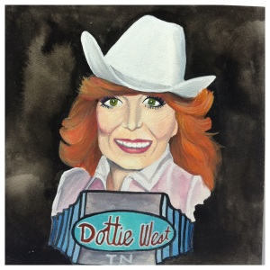 100 Southerners portraits by Lydia Walls: Dottie West