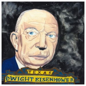 100 Southerners portraits by Lydia Walls: Dwight Eisenhower