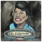 100 Southerners portraits by Lydia Walls: Ella Fitzgerald