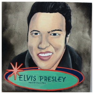 100 Southerners portraits by Lydia Walls: Elvis Preslet