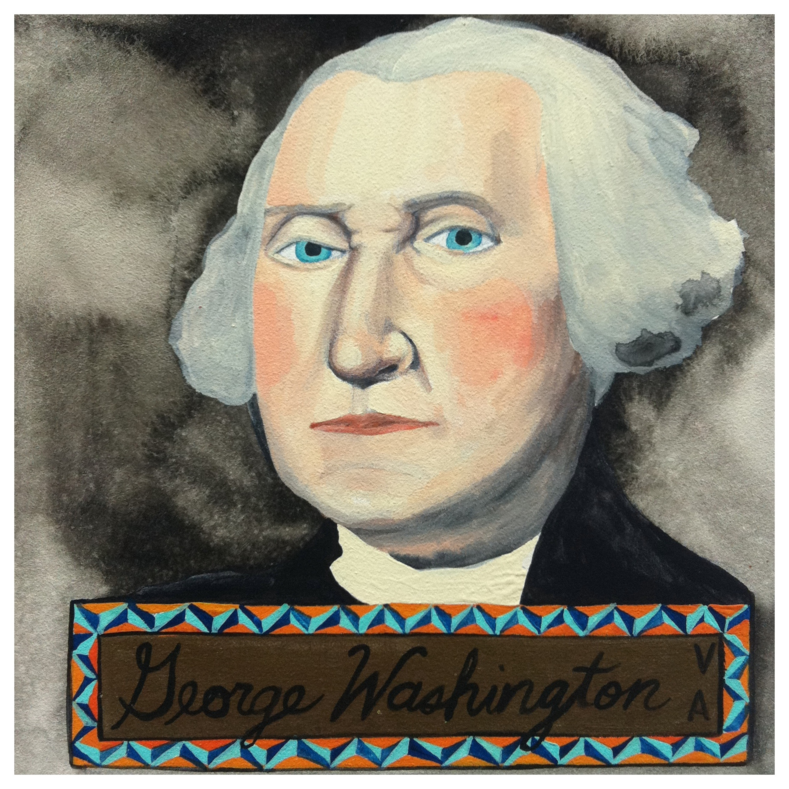100 Southerners portraits by Lydia Walls: George Washington