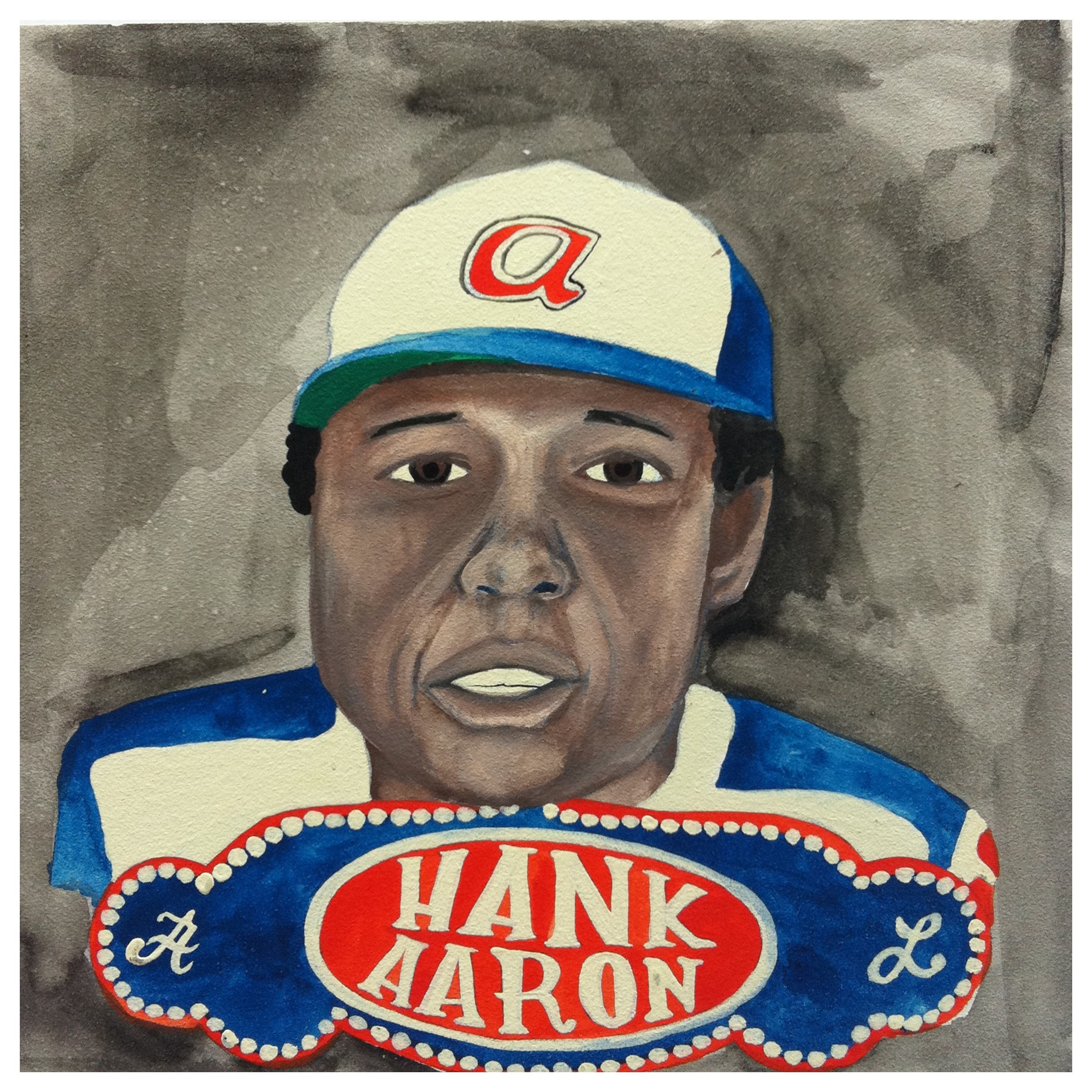 100 Southerners portraits by Lydia Walls: Hank Aaron