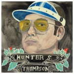 100 Southerners portraits by Lydia Walls: Hunter S Thompson