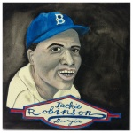 100 Southerners portraits by Lydia Walls: Jackie Robinson