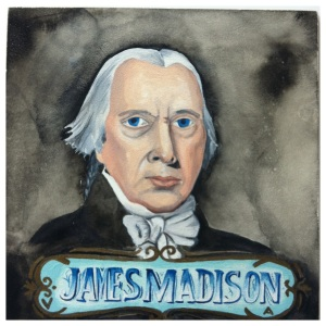 100 Southerners portraits by Lydia Walls: James Madison
