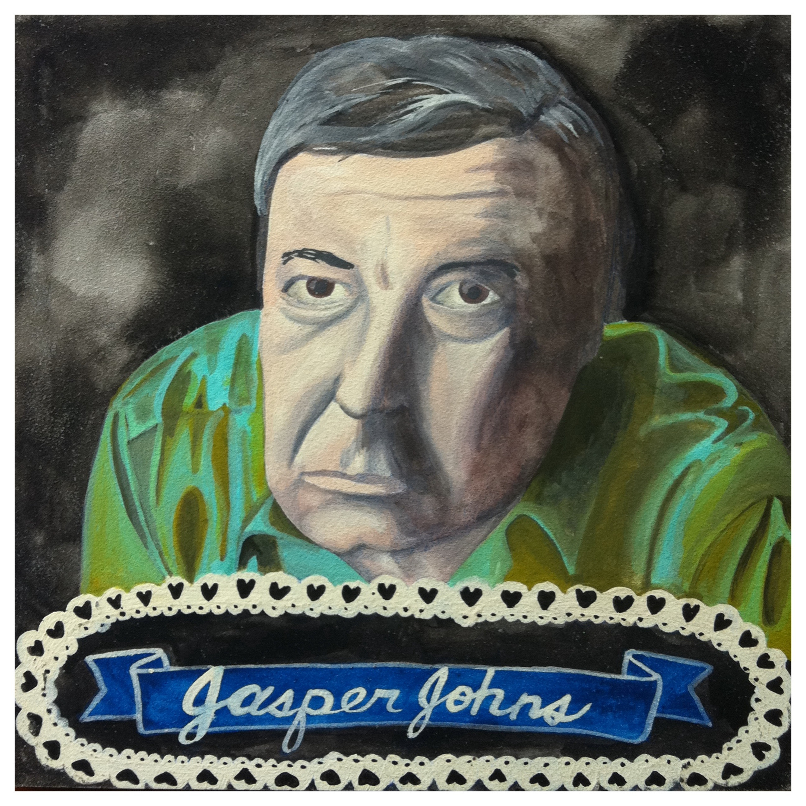 100 Southerners portraits by Lydia Walls: Jasper Johns