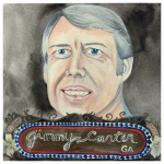100 Southerners portraits by Lydia Walls: Jimmy Carter