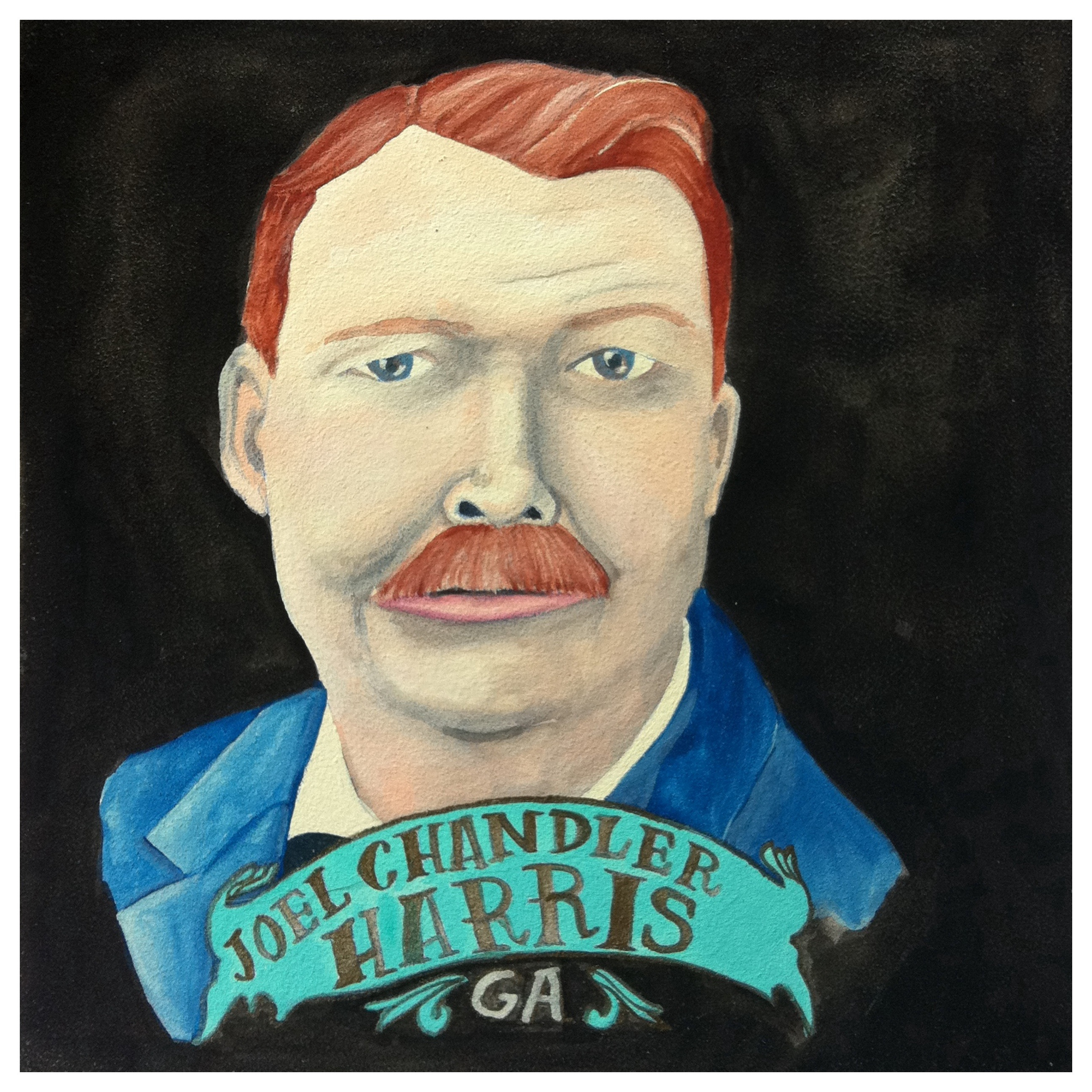 100 Southerners portraits by Lydia Walls: Joel Chandler Harris